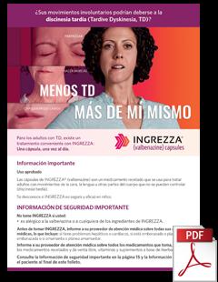 INGREZZA valbenazine Folleto para pacientes en Espanol